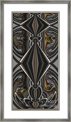 Abstract Door  Ad00001 Framed Print by Pemaro