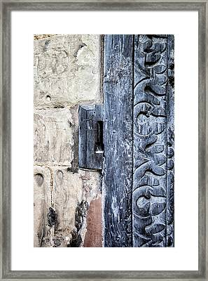Abstract Door Pattern Framed Print by Georgia Fowler