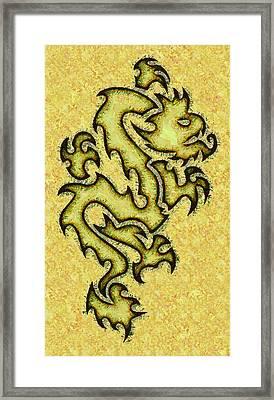 Abstract Dragon Fantasy Framed Print by David G Paul
