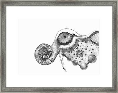 Abstract Drawing #2 - Tigerphant Framed Print by J M Lister