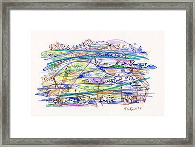 Abstract Drawing Eleven Framed Print by Lynne Taetzsch