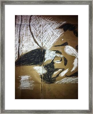Abstract Drawing Framed Print by Khoa Luu