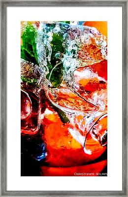 Abstract Drink Framed Print by Christopher Holmes