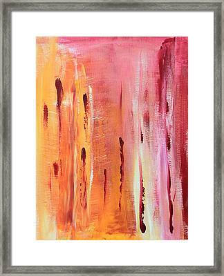 Abstract Drops  Framed Print
