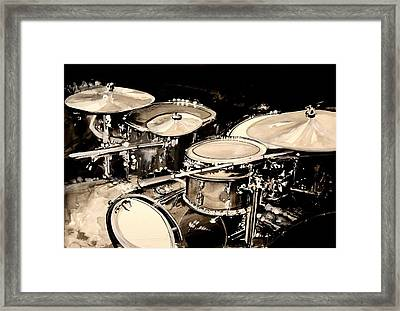 Abstract Drum Set Framed Print by J Vincent Scarpace