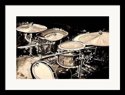 Drum Still-life Framed Prints