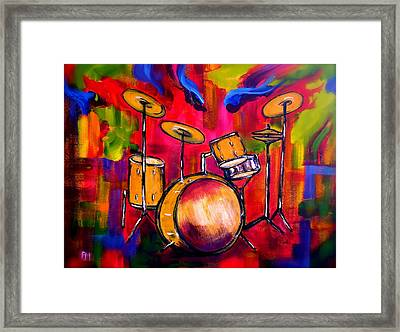 Abstract Drums II Framed Print by Pete Maier