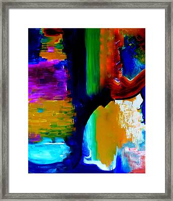 Framed Print featuring the painting Abstract Du Colour by Lisa Kaiser