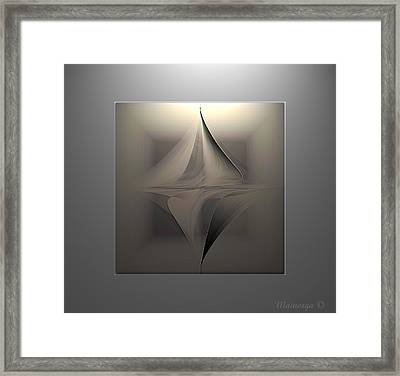 Abstract Duet Framed Print by Ines Garay-Colomba