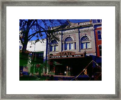 Abstract - Easton Pa - State Theater Center For The Arts Framed Print by Jacqueline M Lewis
