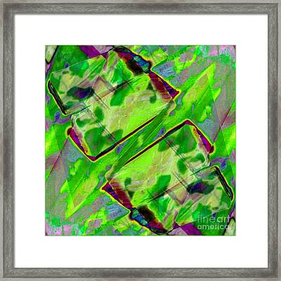 Abstract -  Emotion - Blockage Framed Print by Barbara Griffin