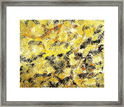 Abstract Eternity Gold Rush 1 Framed Print by Richard W Linford