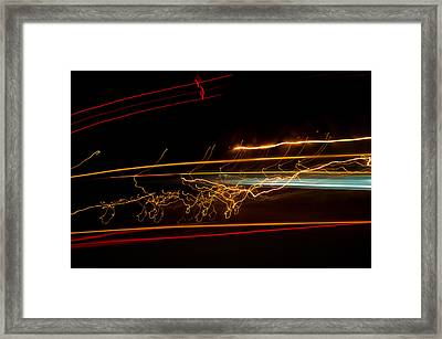 Abstract Evening Lights 1 Framed Print by Chase Taylor