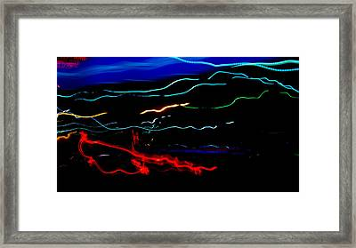 Abstract Evening Lights 2 Framed Print by Chase Taylor