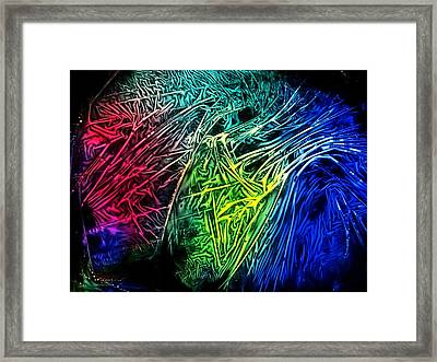 Abstract Experimental Chemiluminescent Photography Framed Print