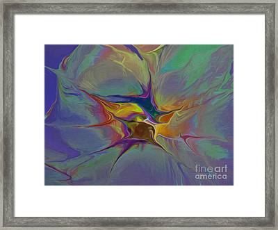 Abstract Explosion Framed Print by Deborah Benoit