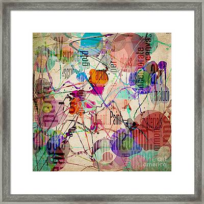 Framed Print featuring the digital art Abstract Expressionism by Phil Perkins