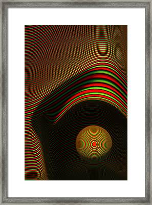 Abstract Eye Framed Print by Johan Swanepoel