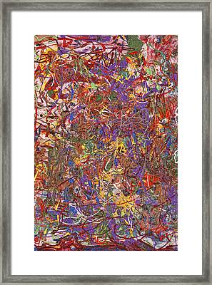 Abstract - Fabric Paint - String Theory Framed Print by Mike Savad