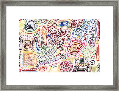 Abstract - Fabric Paint - Urban Society Framed Print by Mike Savad