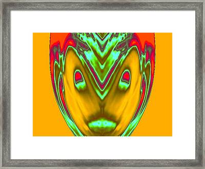 Abstract Face Framed Print