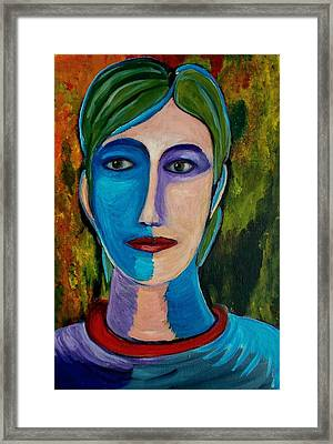 Abstract Face No1 Framed Print