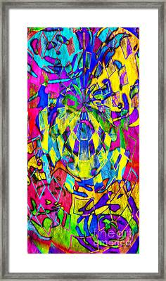 Abstract Faces Framed Print by Andee Design