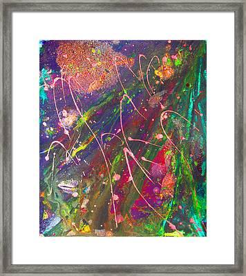 Abstract Fairy Night Lights Framed Print