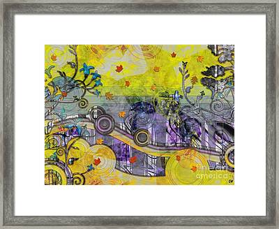 Abstract - Falling Leaves Framed Print by Liane Wright