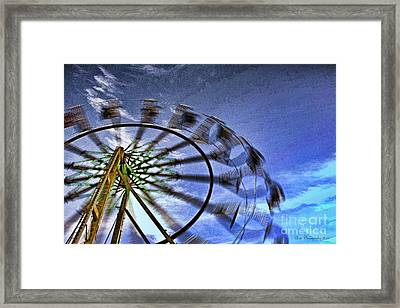 Abstract Ferris Wheel Framed Print