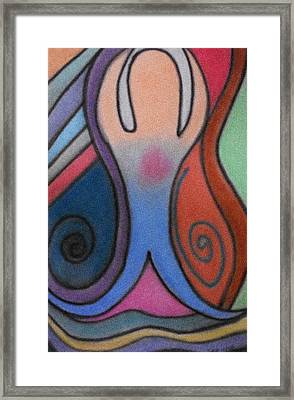 Abstract Figure In Color Framed Print by Christine Perry