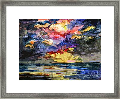 Abstract Stormy Sunrise Seascape Framed Print
