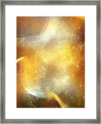 Abstract Fire Framed Print by Veronica Minozzi