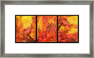 Abstract Fireplace Framed Print