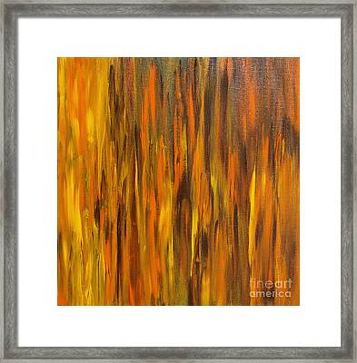 Abstract Fireside Framed Print