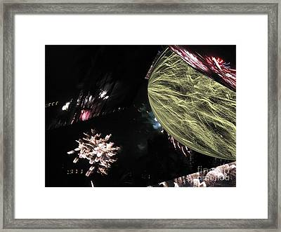 Abstract Firework - Ile De La Reunion - Reunion Island - Indian Ocean Framed Print by Francoise Leandre