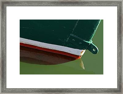 Abstract Fishing Boat Bow Framed Print by Juergen Roth