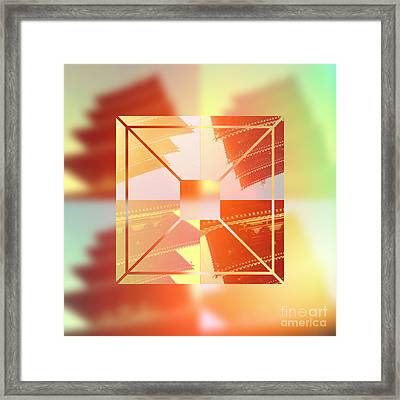 Abstract Five-storied Pagoda 1 Framed Print