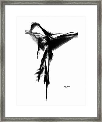 Abstract Flamenco Framed Print