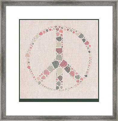 Peace Symbol Design - S77bt01 Framed Print