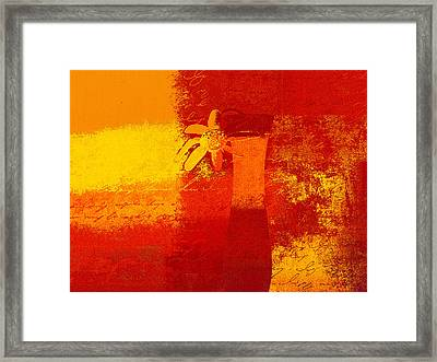 Abstract Floral - 6at01a Framed Print