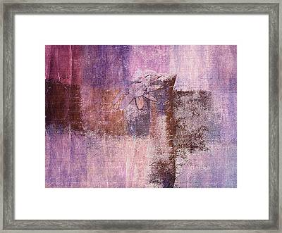 Abstract Floral- I55bt2 Framed Print by Variance Collections