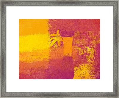 Abstract Floral - M31at1b Framed Print