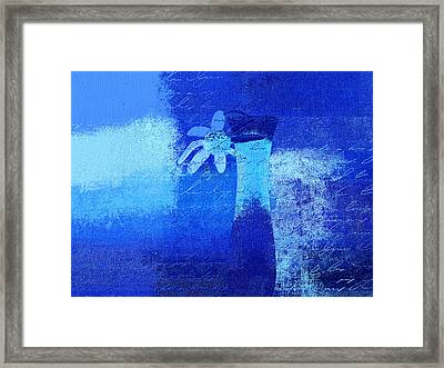 Abstract Floral - P01bt01b Framed Print