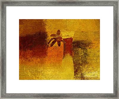 Abstract Floral - P01bt01c11c Framed Print by Variance Collections