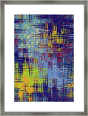 Abstract Floral Framed Print