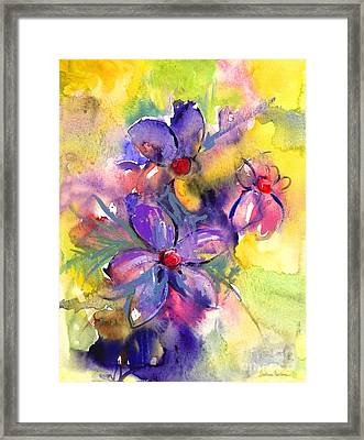 abstract Flower botanical watercolor painting print Framed Print by Svetlana Novikova