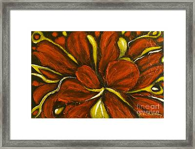 Abstract Flower Framed Print by Elena  Constantinescu