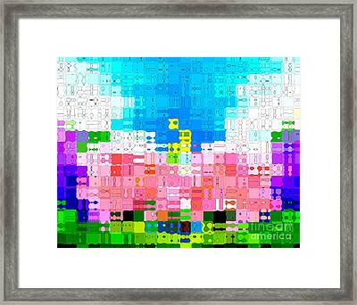 Abstract Flower Garden Framed Print by Anita Lewis