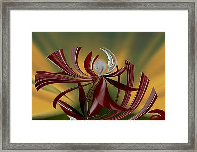 Abstract - Flower Framed Print